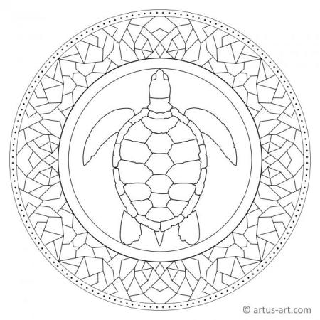 Tessellation Turtle Mandala