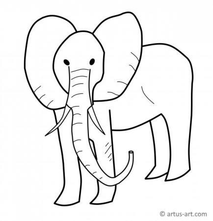 Elefanten Ausmalbild
