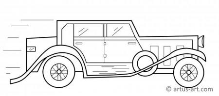 Old-Timer Coloring Page