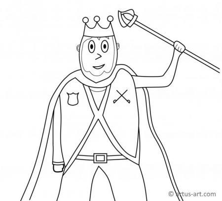Ausmalbild König
