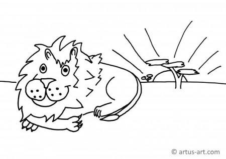Löwe Ausmalbild