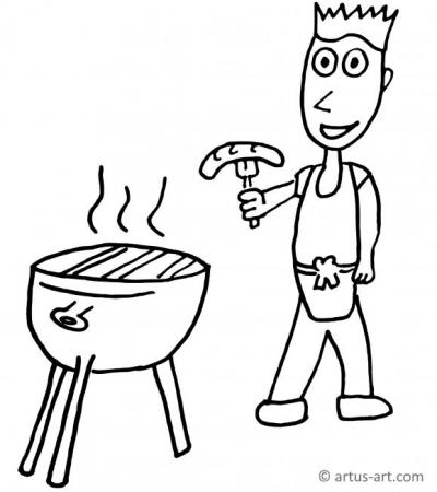 Grill Coloring Page