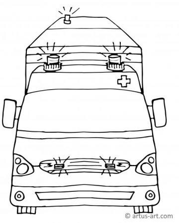 Krankenwagen Ausmalbild