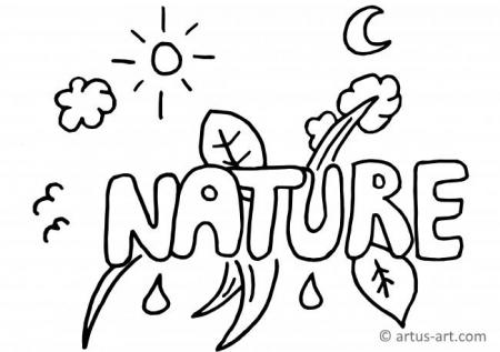 Nature Graffiti Coloring Page