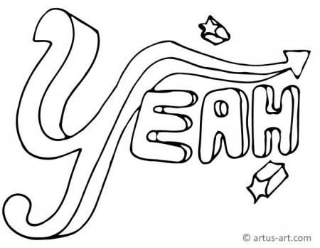Yeah Graffiti Coloring Page