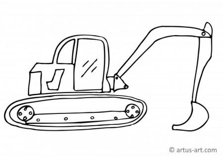 Digger Coloring Page