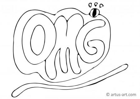 OMG Coloring Page