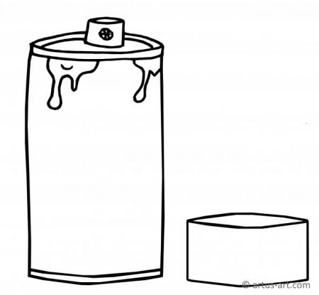Spray Can Coloring Page
