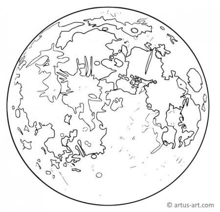 Mond Ausmalbild