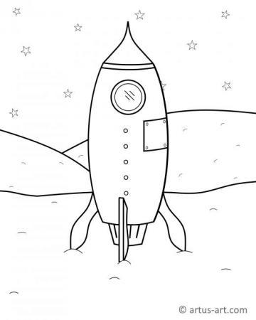 Rakete Ausmalbild