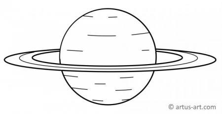 Saturn Ausmalbild