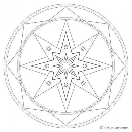 Sterne Mandalas
