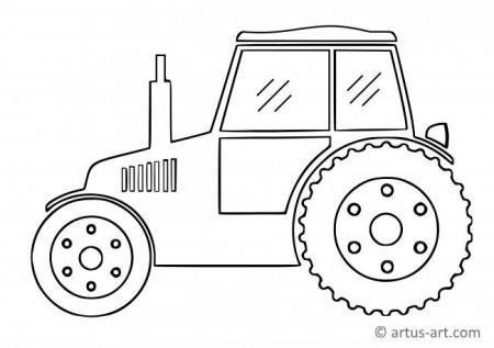 Einfacher Traktor Ausmalbild