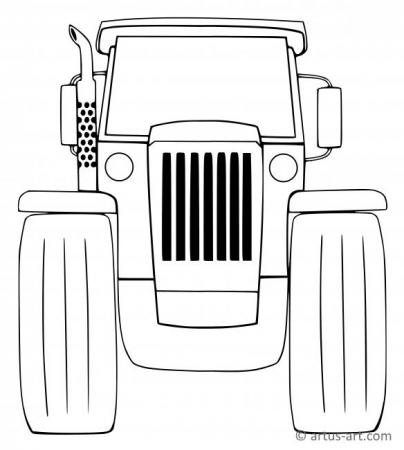 Agricultural Vehicle Coloring Page