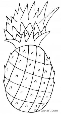 Pineapple Coloring Page