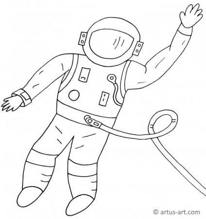 Astronaut Ausmalbild