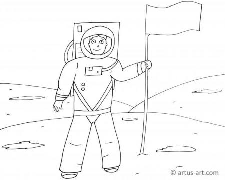 Moon Landing Coloring Page