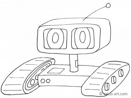 Remotely Controlled Robot Coloring Page
