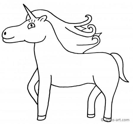 Sweet Unicorn Coloring Page