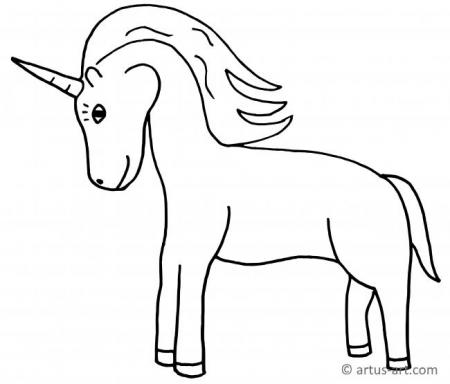 Fairy Tale Unicorn Coloring Page