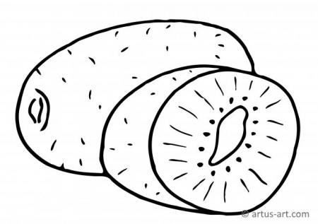 Kiwi Fruit Coloring Page