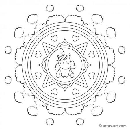 Unicorn Mandala For Kids