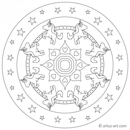 Printable Unicorn Mandala