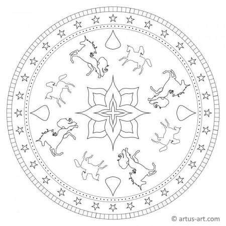 Unicorn Mandala For Adults