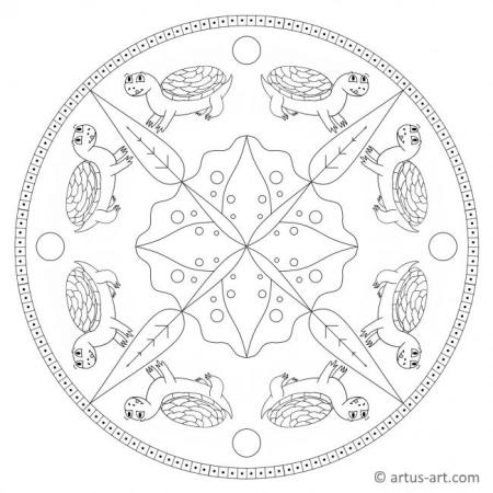 Happy Turtle Mandala