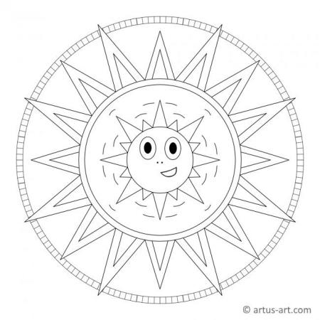 Sun Mandala With Face