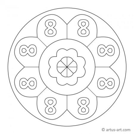 Zahl Acht als Mandala
