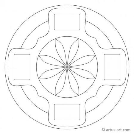Einfaches Mandala mit Rechtecken