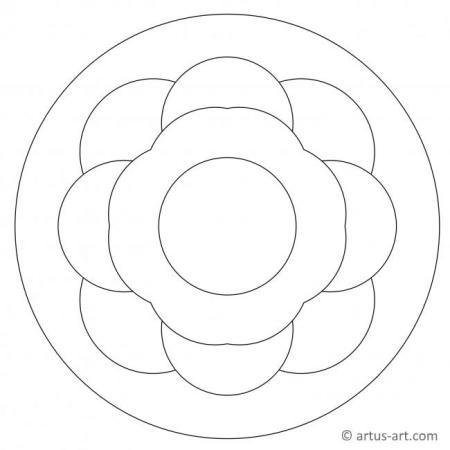 Mandala mit großen Flächen