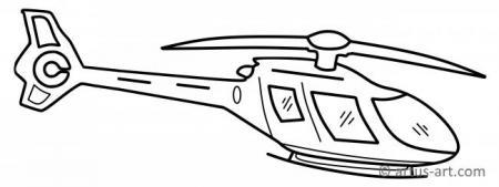 Helikopter Ausmalbild