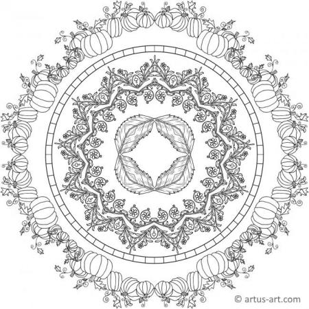 Beautiful Fall Mandala