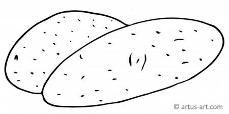 Kartoffel Ausmalbild