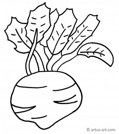 Beet Coloring Page