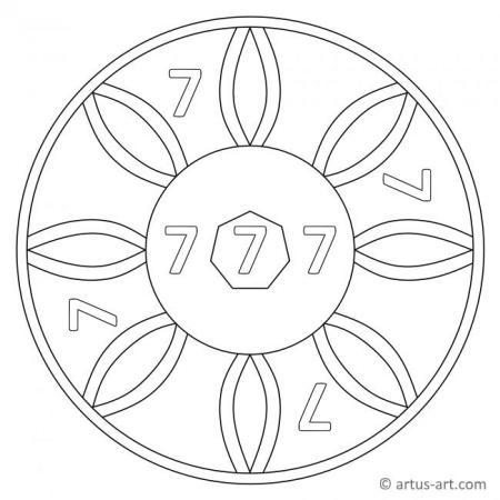 Number 7 Mandala