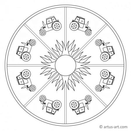 Vehicles Mandalas