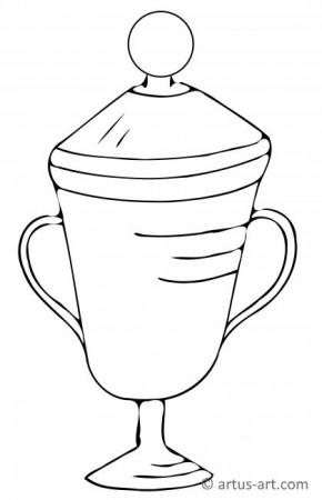 Pokal Ausmalbild