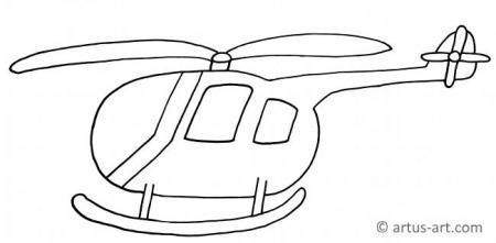 Hubschrauber Ausmalbild für Kleinkinder