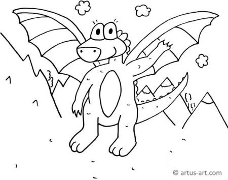 Waving Dragon Coloring Page