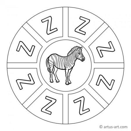 Letter Z Mandala