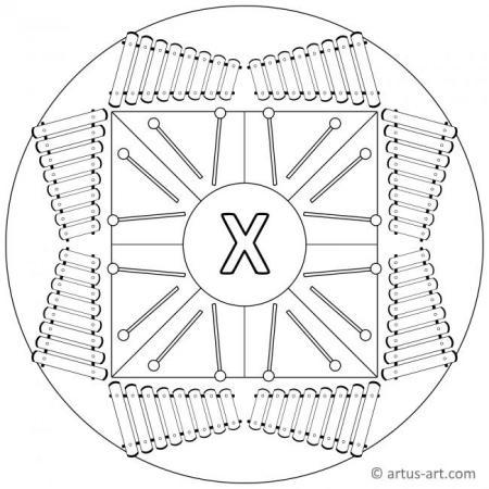 Letter X Mandala