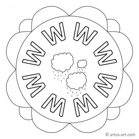 Letter W Mandala