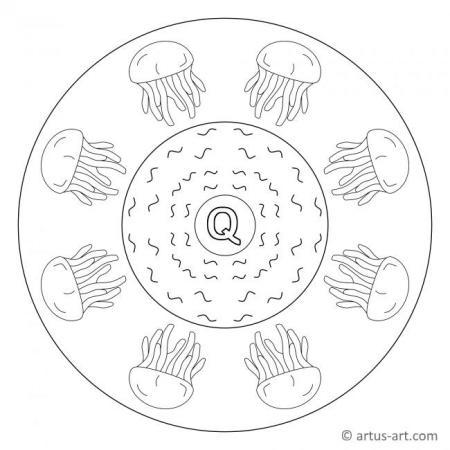 Letter Q Mandala
