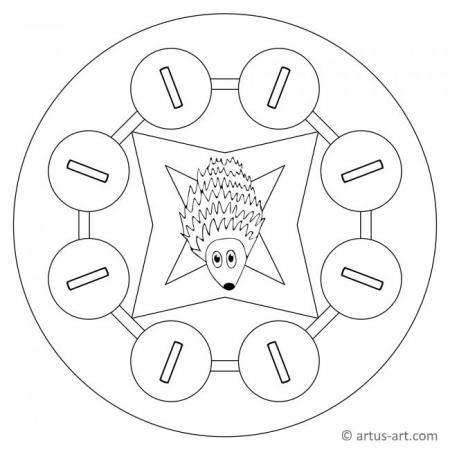 Letter I Mandala