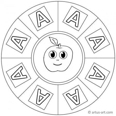 Buchstabe A Mandala