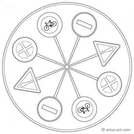 Traffic Signs Mandala