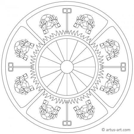 Torwart Mandala